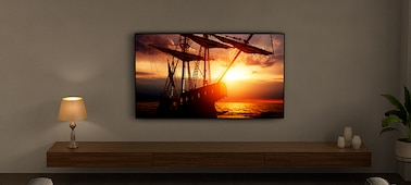 Image of TV in living-room environment