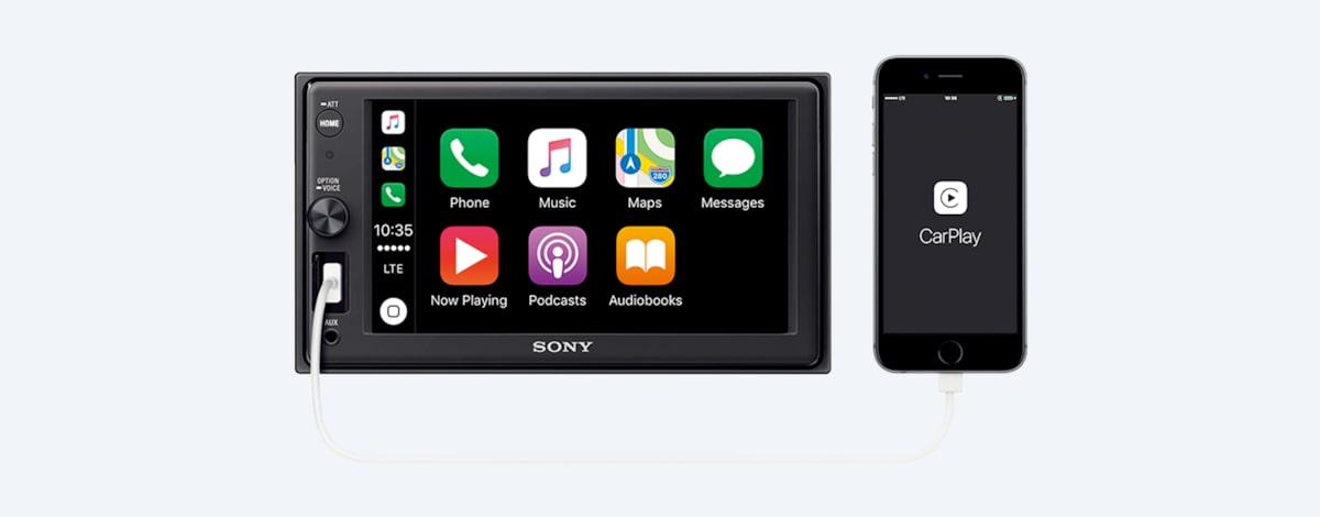 Sony XAV-AX1000 Double Din MultiMedia Radio Kit Bluetooth Apple Carplay No CD