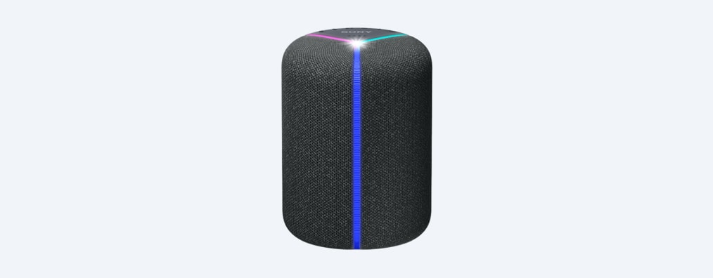 Product shot of SRS-XB402M wireless speaker with lights on