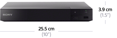Dimensions of 4K Upscale Blu-ray Disc™ Player with built-in Wi-Fi®