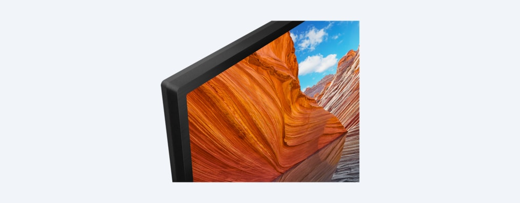 X80J BRAVIA TV frame detail