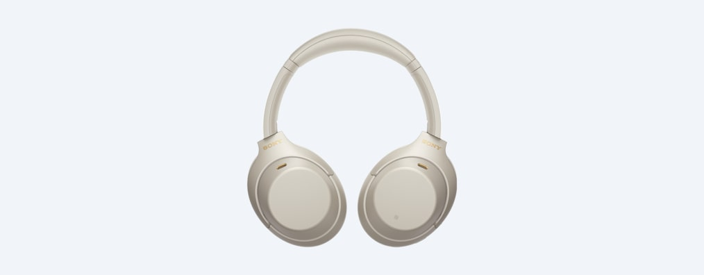 WH-1000XM4 headphones folded white