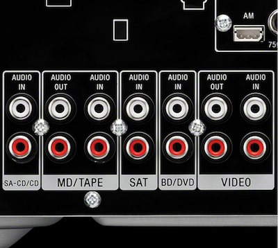 5x audio inputs/2x audio outputs