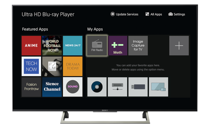 BRAVIA™ TV interface