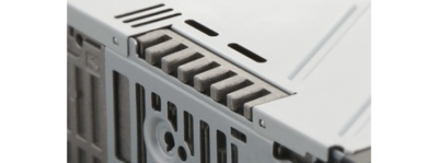 Larger heat sink for improved ventilation