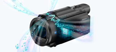 Picture of AX53 4K Handycam® with Exmor R® CMOS sensor