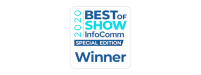 Logo Gagnant 2020 Best of Show InfoComm