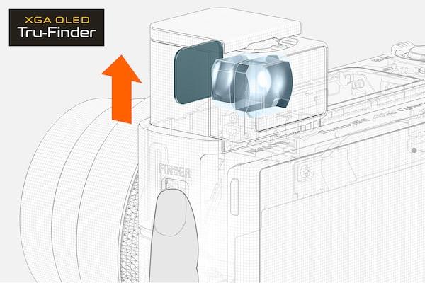 Accès au viseur électronique par simple pression