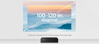 Sony VPL-VZ1000ES Ultra-Short Throw 4K SXRD Home Cinema Projector Screen Size