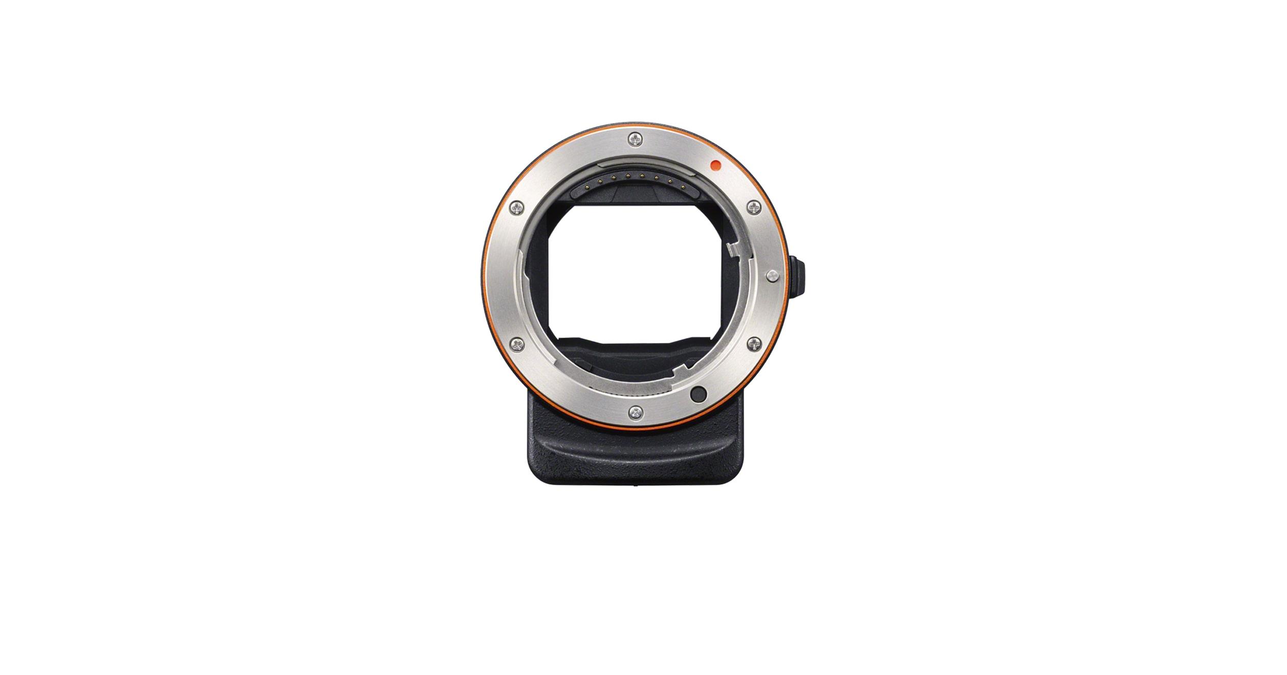 Black//Silver Sony LAEA3 35mm Full Frame A-Mount Adapter