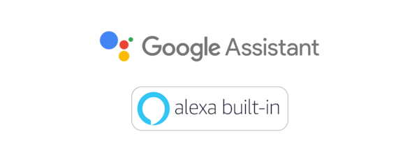 Logos Assistant Google et Amazon Alexa.