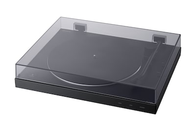 The PS-LX310BT BLUETOOTH vinyl record player with dust cover closed