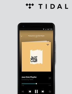 Image of mobile showing TIDAL