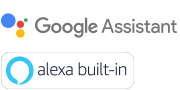 Logos Assistant Google et Alexa built-in