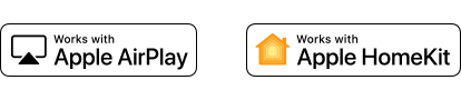 Apple AirPlay and Apple HomeKit logos