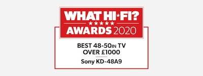 WHAT HI-FI 2020 best 48–50 in award logo