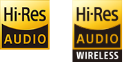 High Resolution Audio & High Resolution Audio wireless logos