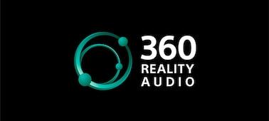 360 Reality Audio logo on black background