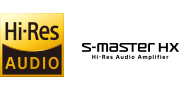 Hi=Resolution Audio and S-Master Hx logos
