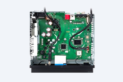 Image of internal circuitry and components