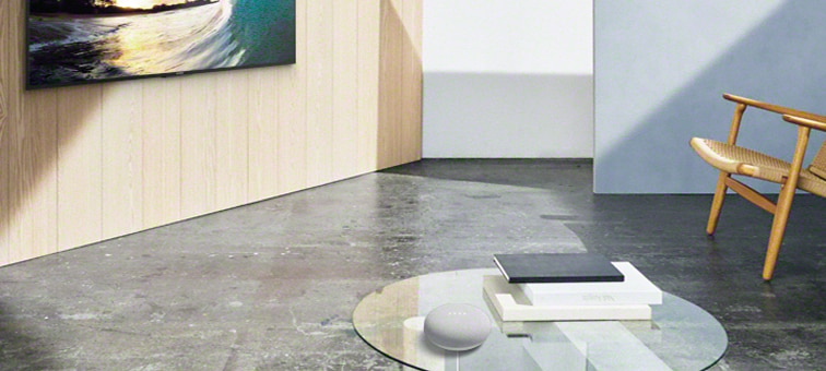 Image showing Google Nest Mini in a living room environment