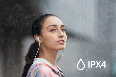 IPX4 splash and sweat-proof rating