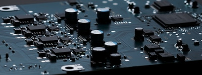 Close-up of circuit board.
