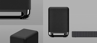 Image showing Omnidirectional Block design of speakers and soundbar