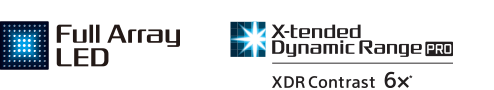 Full Array LED and Xtended Dynamic Range logos