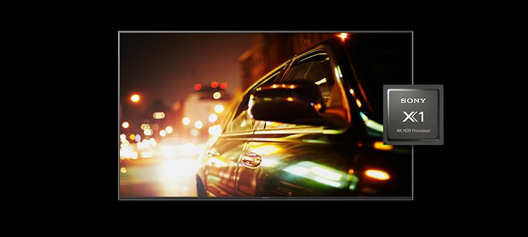 Image of car in a movie showing 4K picture detail