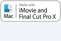 Compatible avec iMovie/Final Cut Pro X