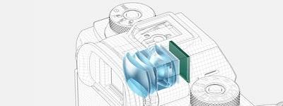 Viseur Quad-XGA OLED Tru-Finder<sup>MC</sup> à 3,68millions de points