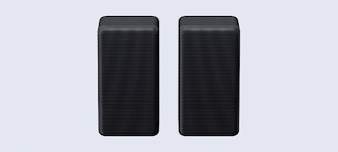 Front image of SA-RS3S rear speakers side-by-side